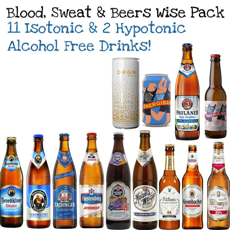 'Blood, Sweat and Beers' 13 bottle Isotonic Alcohol Free Wise Pack  (Save 5%)