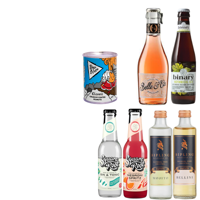 'Hit the Wine & Cocktail Bars' Wise Pack- 6 drinks & Crispy Coated Nuts (Save 5%)