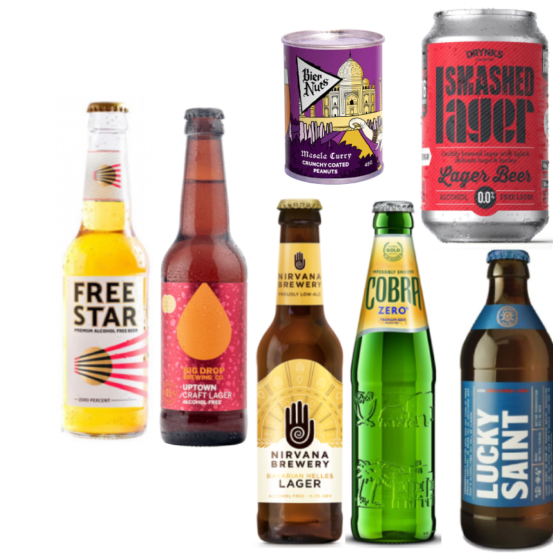 'Out for a curry' Wise Pack- 6 Beers & Masala Curry Nuts (Save 5%)