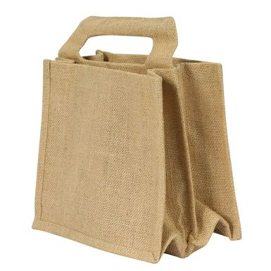 6 Bottle Beer Jute Carrier