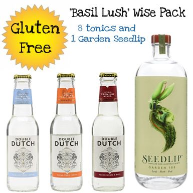 Basil Lush' Alcohol  Free Wise Pack, 1 bottle of Seedip Garden  and 8 bottles of mixers(Save 5%)