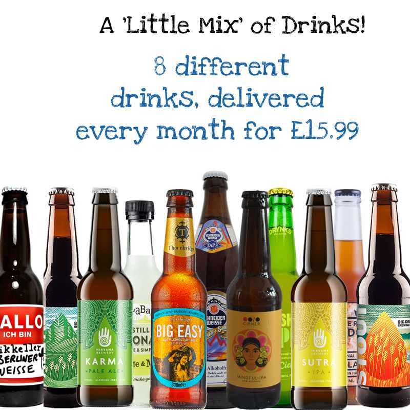 A 'Little Mix' Wise Pack 8 different drinks every month, delivered