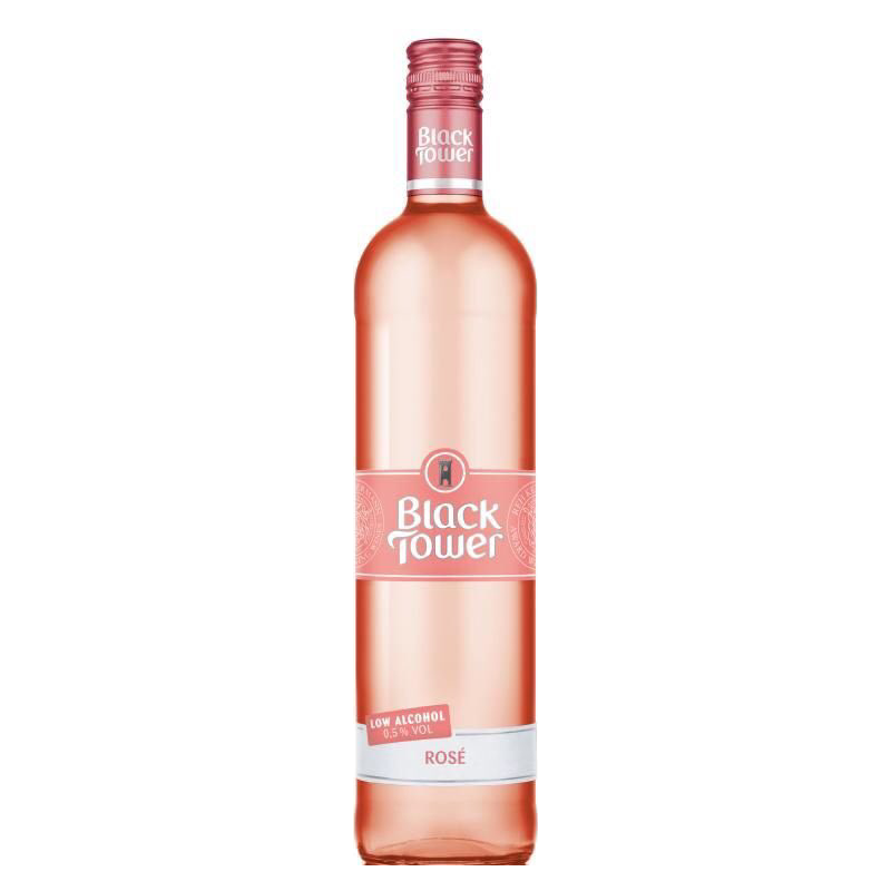 Black Tower Deliciously Light Low Alcohol Rosé Wine (0.5% ABV)
