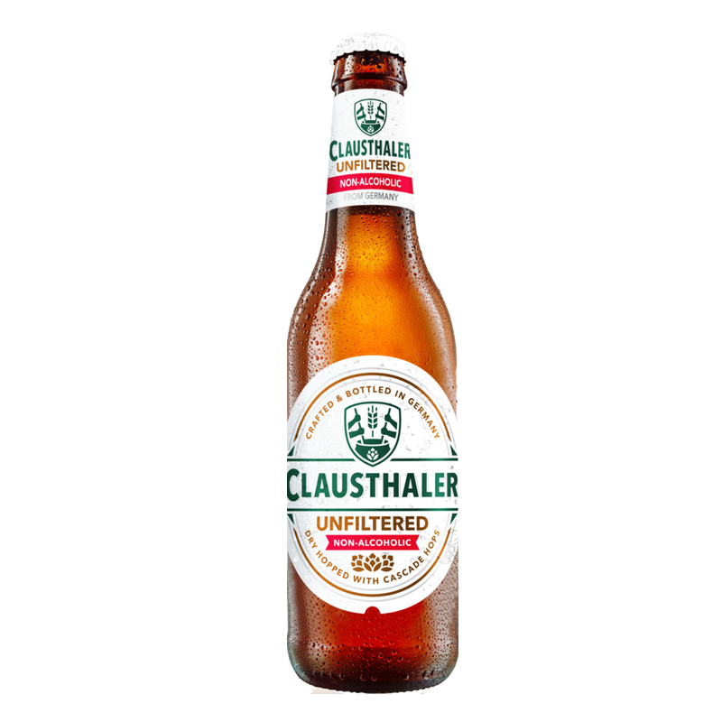 Clausthaler Unfiltered Alcohol Free Beer (<0.5% ABV)