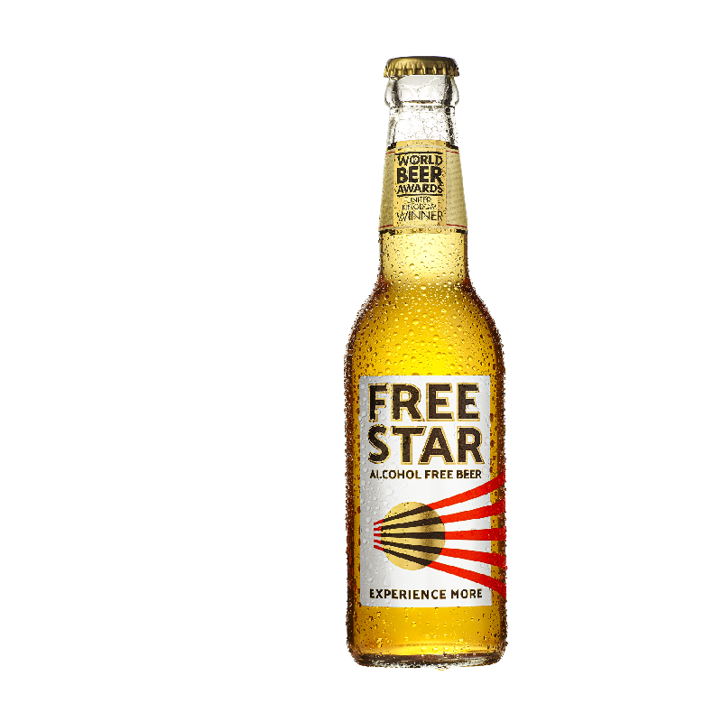 Freestar Premium Alcohol Free Lager Bottle (0.0% ABV)