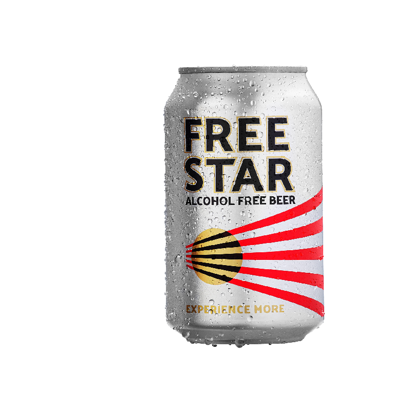 Freestar Premium Alcohol Free Lager Can (0.0% ABV)