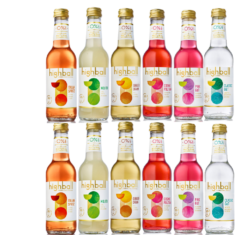 Highball Alcohol Free 12 bottle cocktail pack (0% ABV)