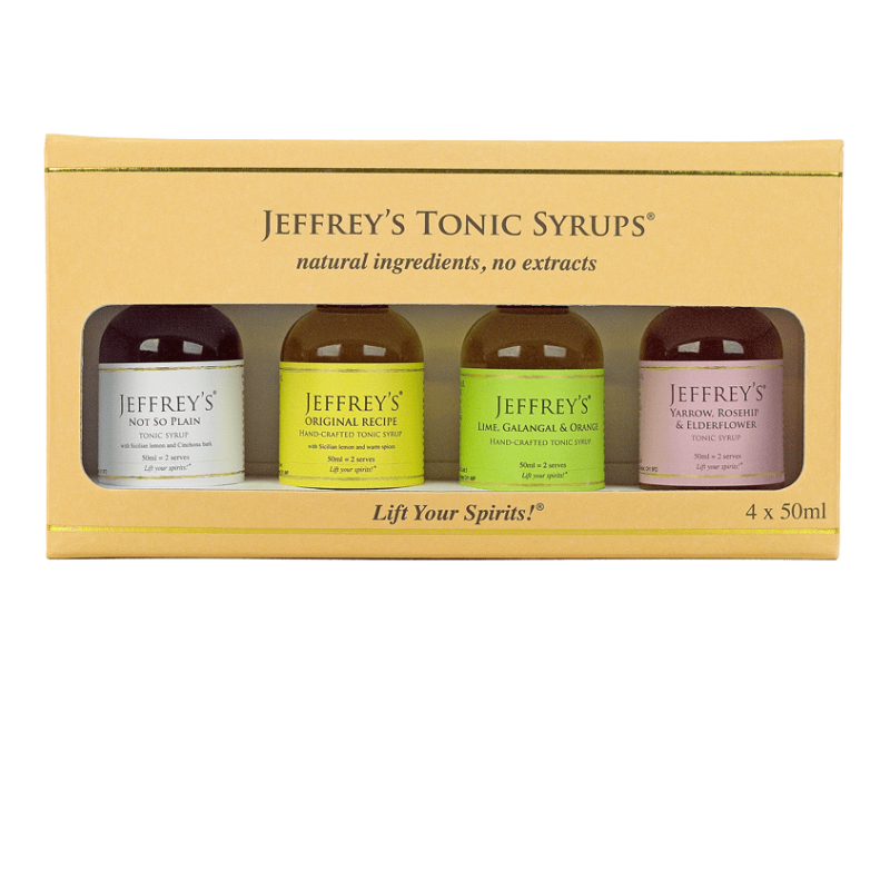 Jeffrey's Tonic Syrup- 4x50ml Gift Pack (0% ABV)