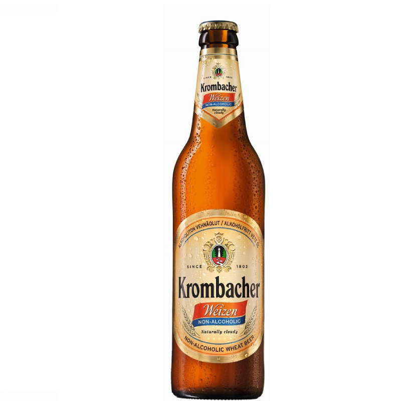 Krombacher Weizen Alcohol Free Beer  (0.5% ABV)