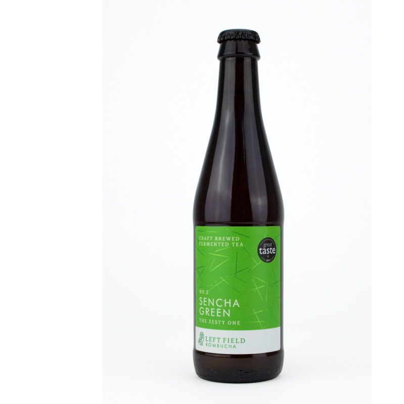 Left Field No.2 Sencha Green Kombucha tea (0.5% ABV)