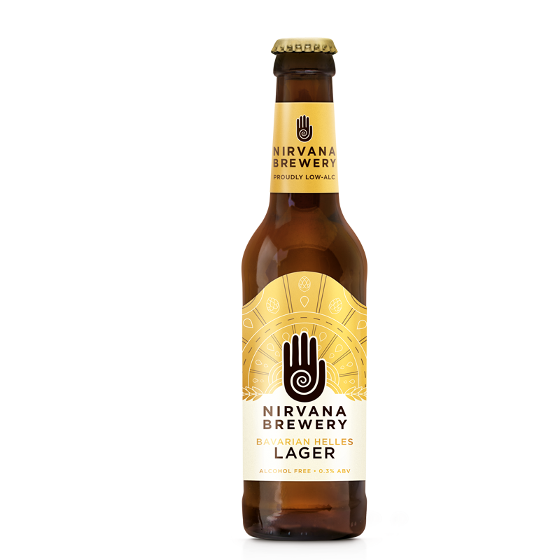 Nirvana Bavarian Helles Alcohol Free Lager (formerly FitBeer)  (0.3% ABV)
