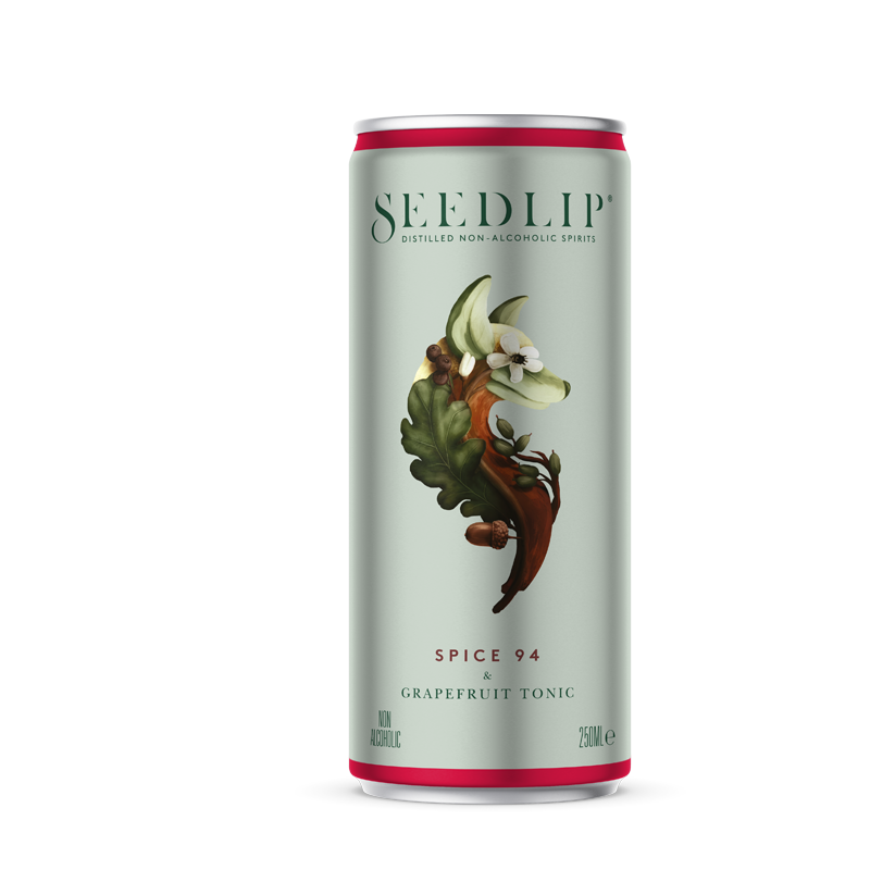 Seedlip Spice 94 & Grapefruit Tonic RTD (0% ABV)