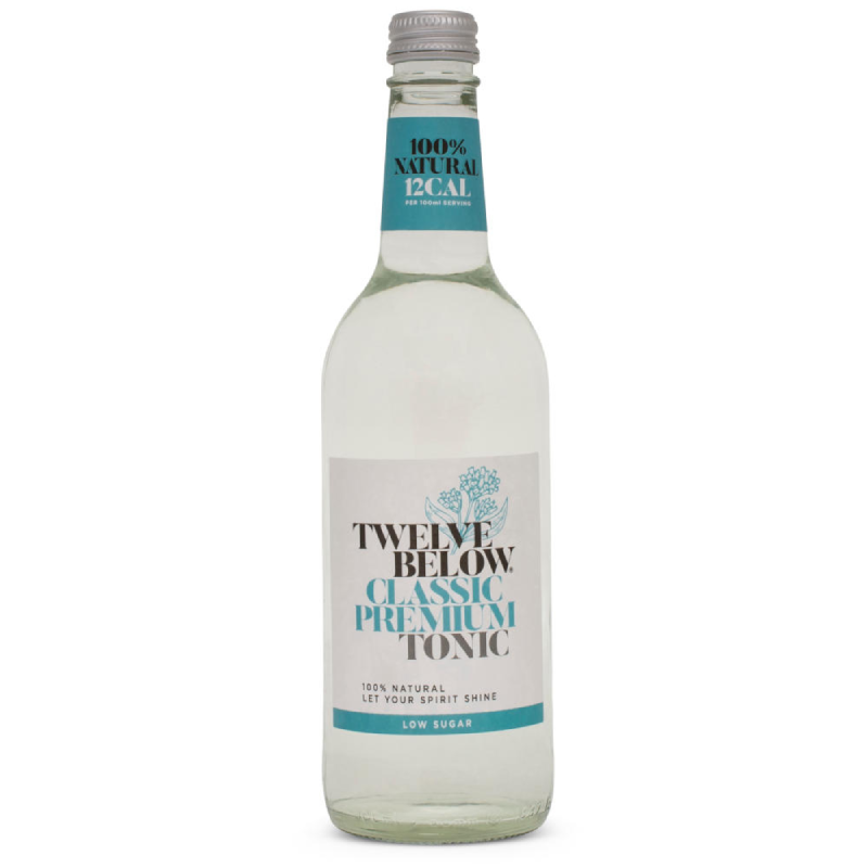 Twelve Below Classic Premium Tonic 500ml (0% ABV)